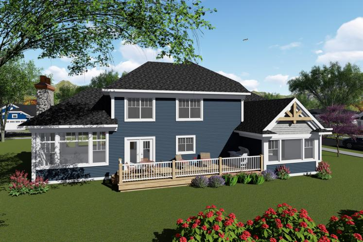 Bungalow House Plan -  29136 - Rear Exterior