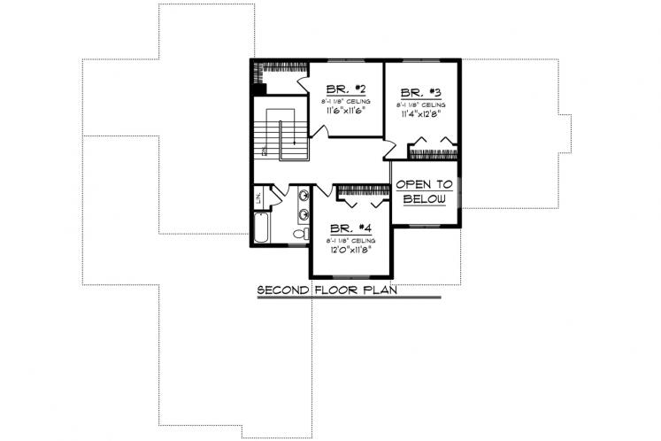 Bungalow House Plan -  29136 - 2nd Floor Plan