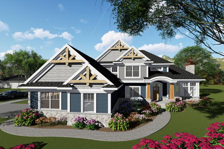 Craftsman House Plan -  29136 - Front Exterior