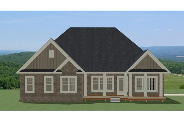 Traditional House Plan - Harrison 29355 - Rear Exterior