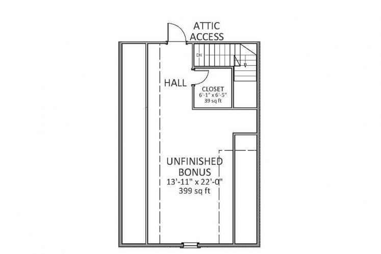 Traditional House Plan - Harrison 29355 - 2nd Floor Plan