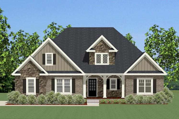 Craftsman House Plan - Harrison 29355 - Front Exterior