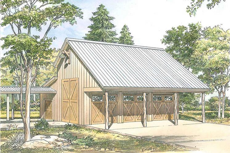 Country Garage Plan - Oldham Barn 29380 - Front Exterior