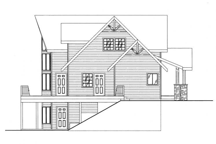 Lodge Style House Plan -  29385 - Left Exterior