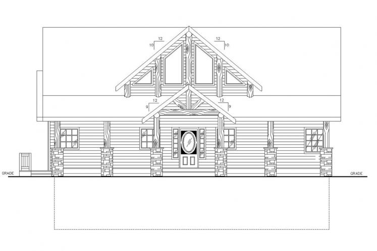 Country House Plan -  29385 - Front Exterior