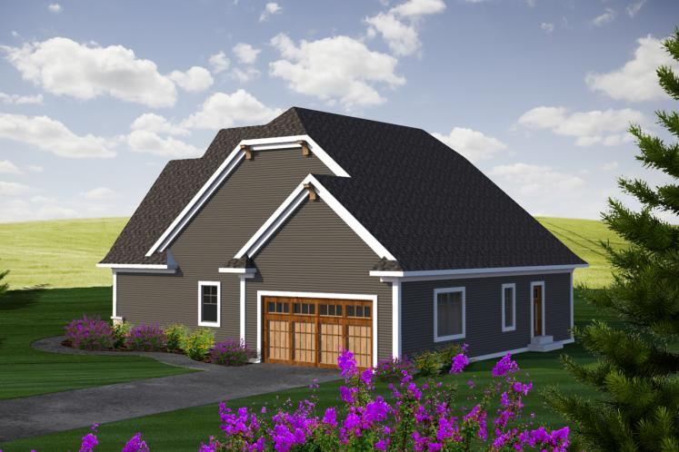 Cottage House Plan -  29399 - Rear Exterior