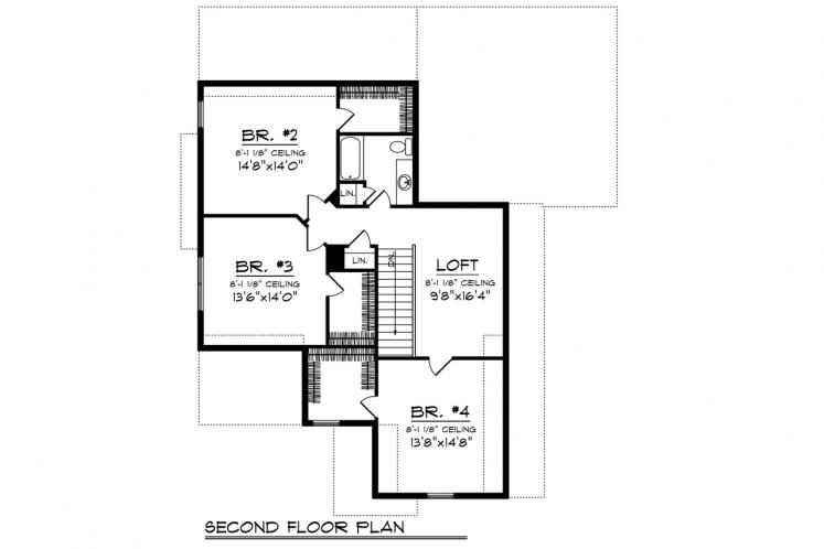 Cottage House Plan -  29399 - 2nd Floor Plan