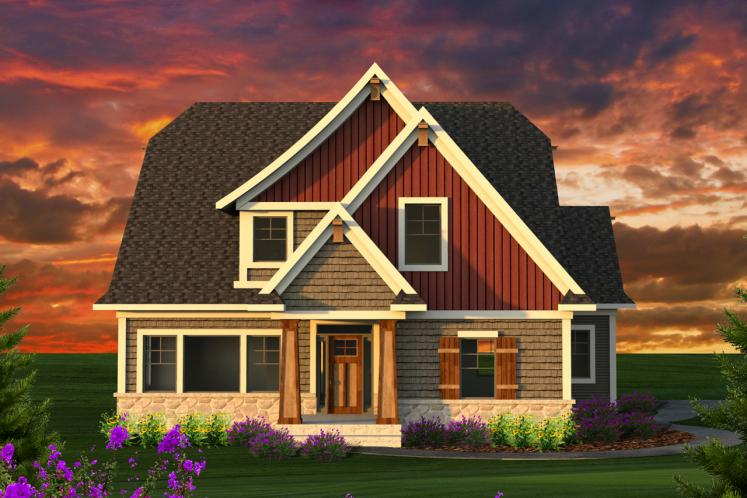 Craftsman House Plan -  29399 - Front Exterior