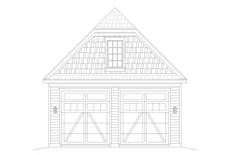Country Garage Plan -  29528 - Front Exterior