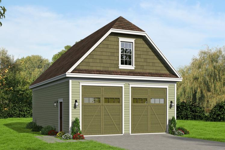 Traditional Garage Plan -  29528 - Front Exterior