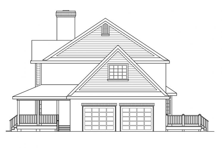 Country House Plan - Cimarron 29561 - Right Exterior