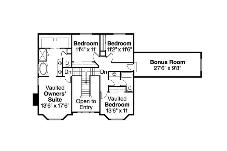 Southern House Plan - Cimarron 29561 - 2nd Floor Plan