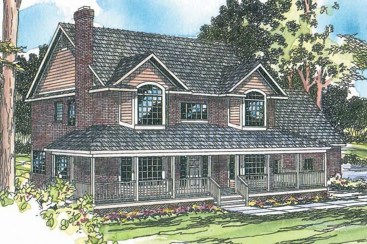 Country House Plan - Cimarron 29561 - Front Exterior