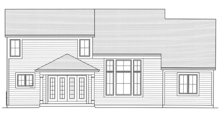 European House Plan - Saybrook 29610 - Rear Exterior
