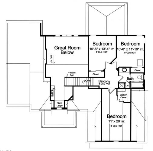 European House Plan - Saybrook 29610 - 2nd Floor Plan