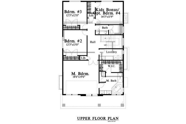 Traditional House Plan -  29614 - 2nd Floor Plan