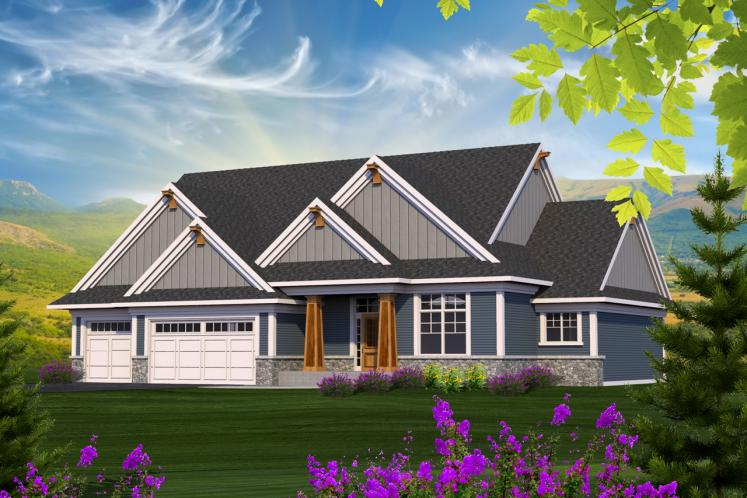 Ranch House Plan -  29655 - Front Exterior