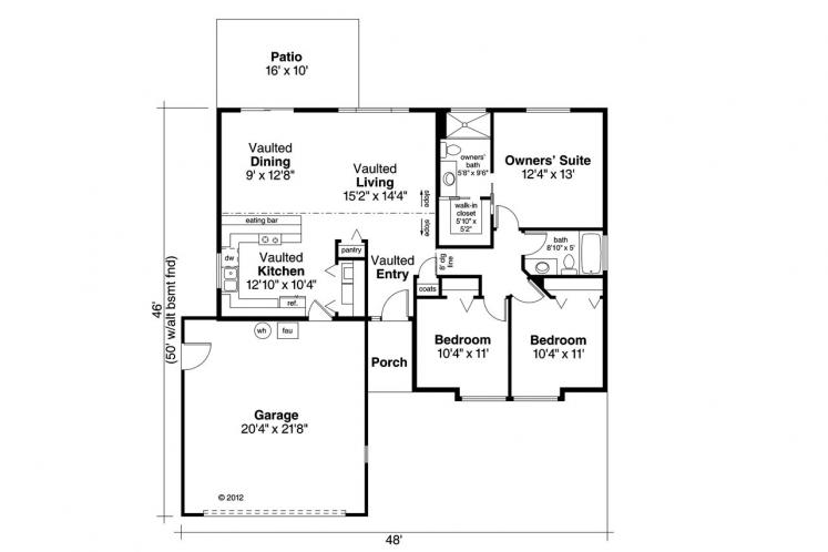 Contemporary House Plan - Copperfield 29742 - 1st Floor Plan