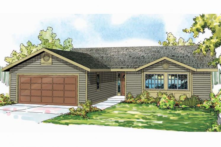 Ranch House Plan - Copperfield 29742 - Front Exterior