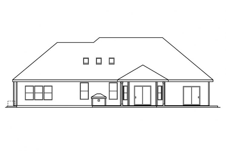 Country House Plan - Hargrove 29748 - Rear Exterior