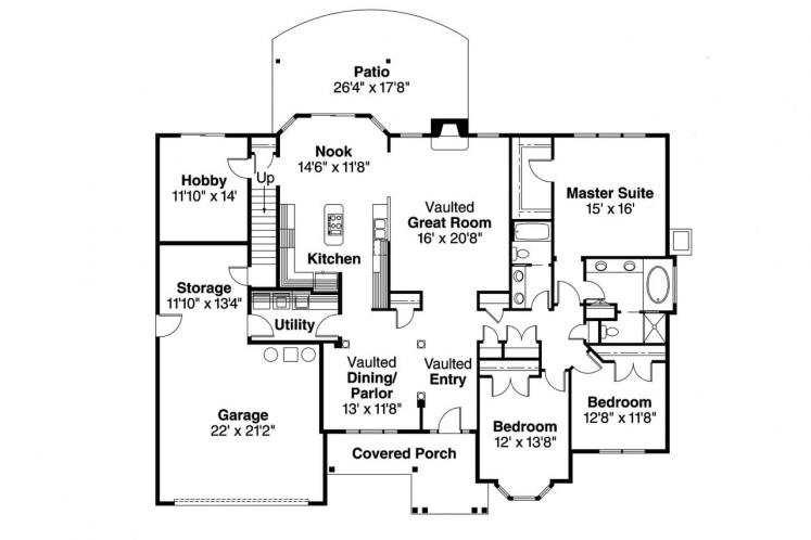 Country House Plan - Hargrove 29748 - 1st Floor Plan
