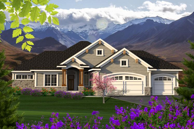 Ranch House Plan -  29767 - Front Exterior