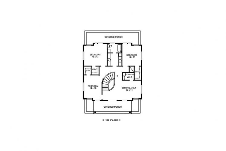 Southwest House Plan - Estrada 29797 - 2nd Floor Plan