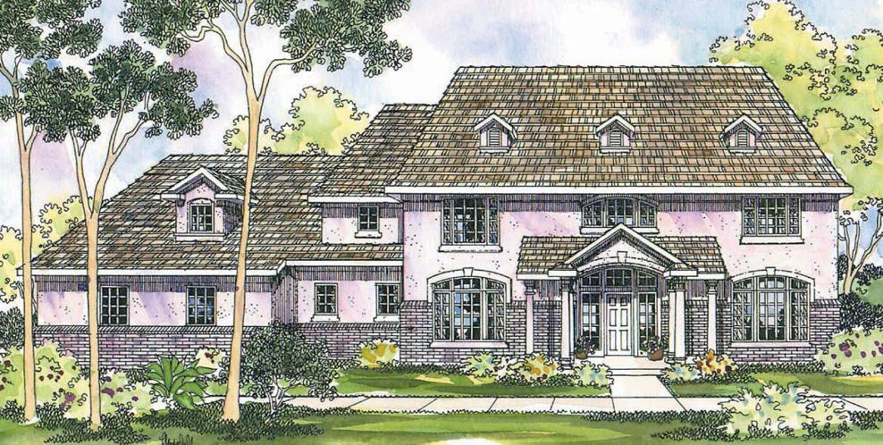 Colonial House Plan - Roxbury 29809 - Front Exterior