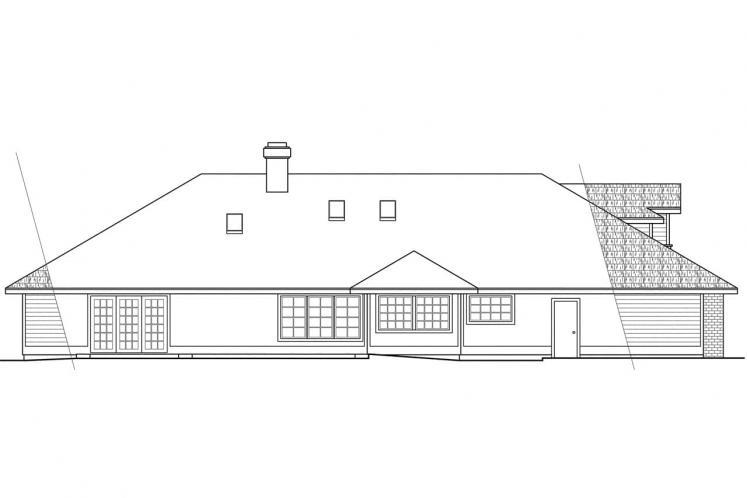 Traditional House Plan - Ainsley 29878 - Rear Exterior