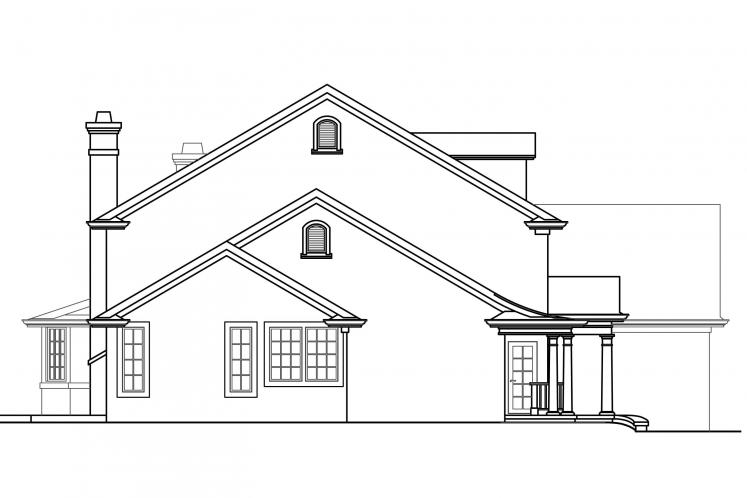 Southern House Plan - Palmary 29914 - Left Exterior
