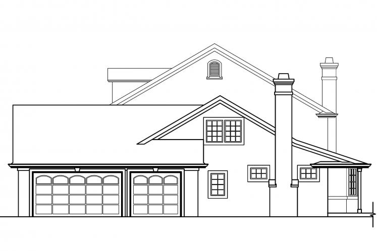 Colonial House Plan - Palmary 29914 - Right Exterior