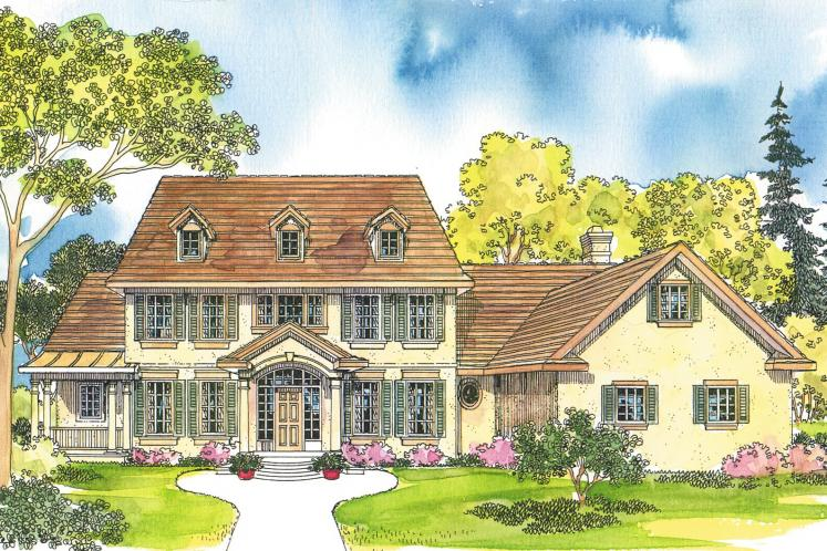 Colonial House Plan - Palmary 29914 - Front Exterior