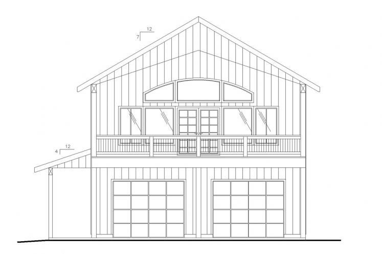 Country Garage Plan -  29989 - Front Exterior