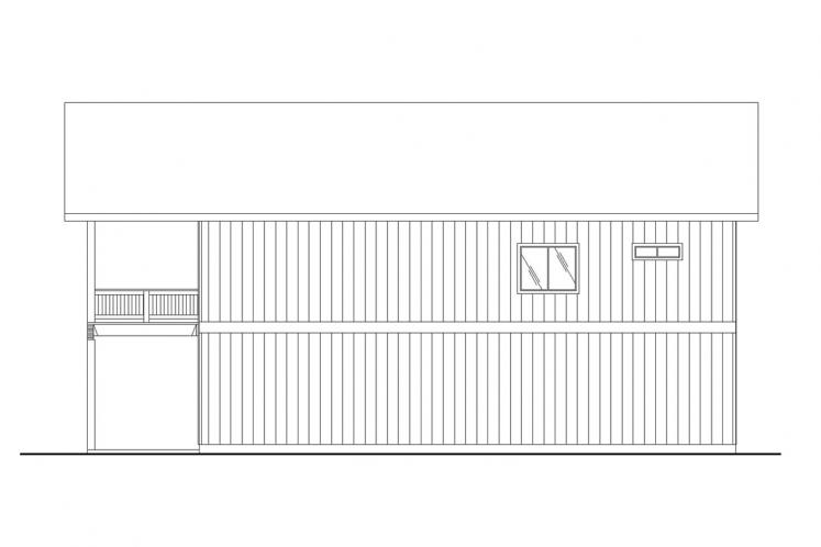 Country Garage Plan -  29989 - Right Exterior
