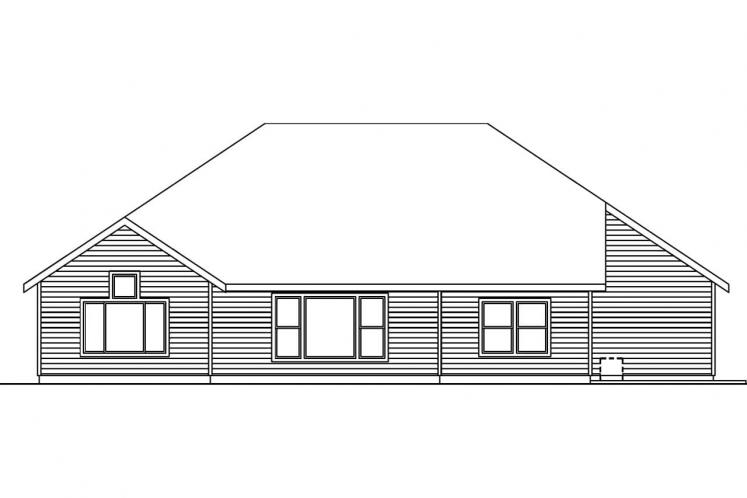 Cape Cod House Plan - Schuyler 30019 - Rear Exterior