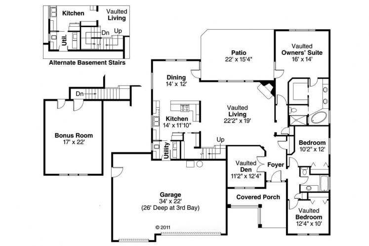 Cape Cod House Plan - Schuyler 30019 - 1st Floor Plan