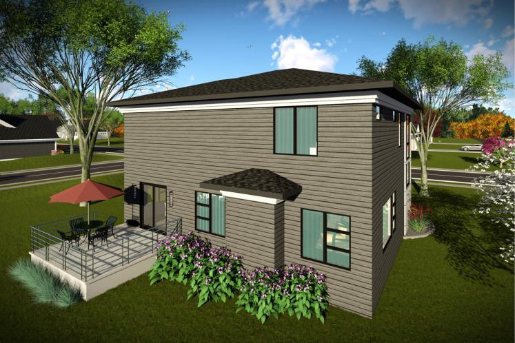 Modern House Plan -  30062 - Rear Exterior