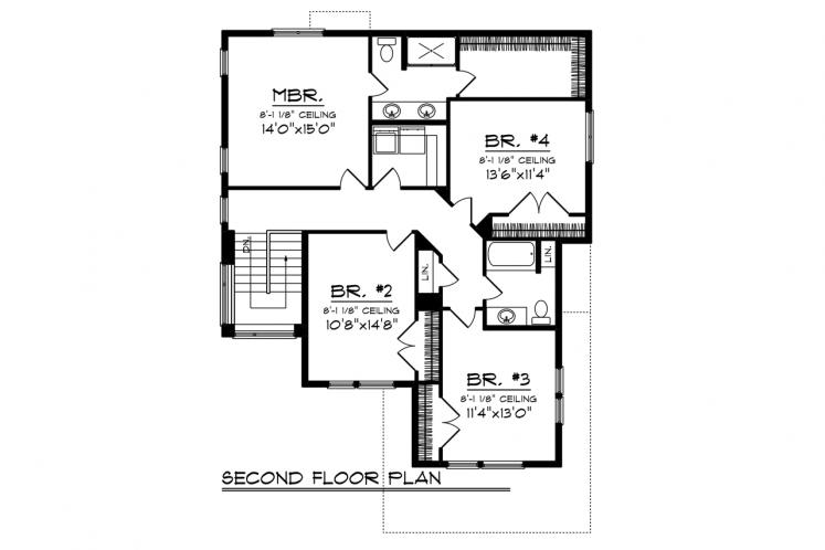 Modern House Plan -  30062 - 2nd Floor Plan
