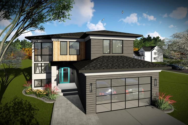 Contemporary House Plan -  30062 - Front Exterior