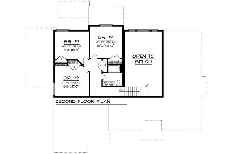 Farmhouse House Plan -  30072 - 2nd Floor Plan