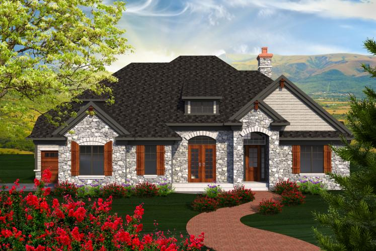 European House Plan -  30072 - Front Exterior