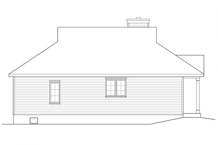Country House Plan -  30100 - Left Exterior