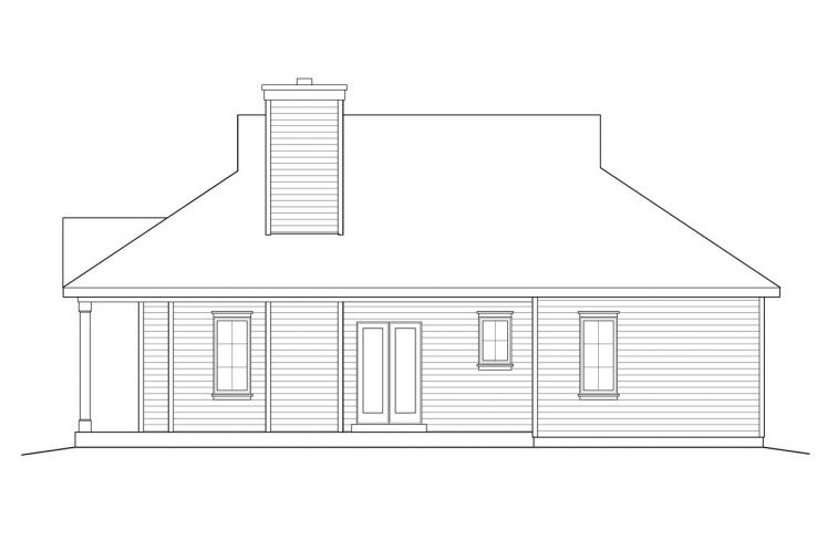 Cottage House Plan -  30100 - Right Exterior