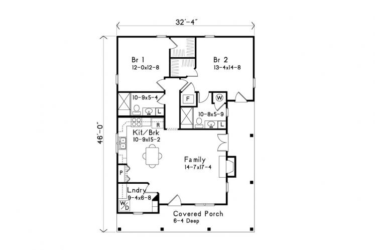 Country House Plan -  30100 - 1st Floor Plan