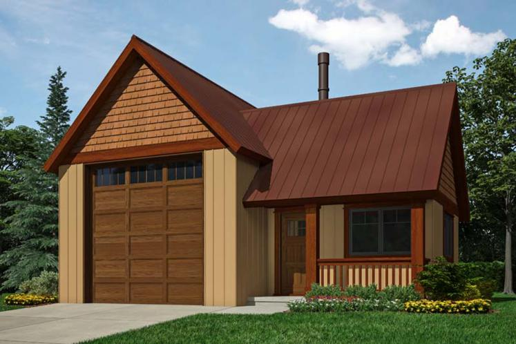 Country Garage Plan -  30104 - Front Exterior