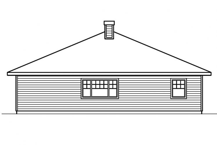 Craftsman House Plan - Lincoln 30112 - Rear Exterior