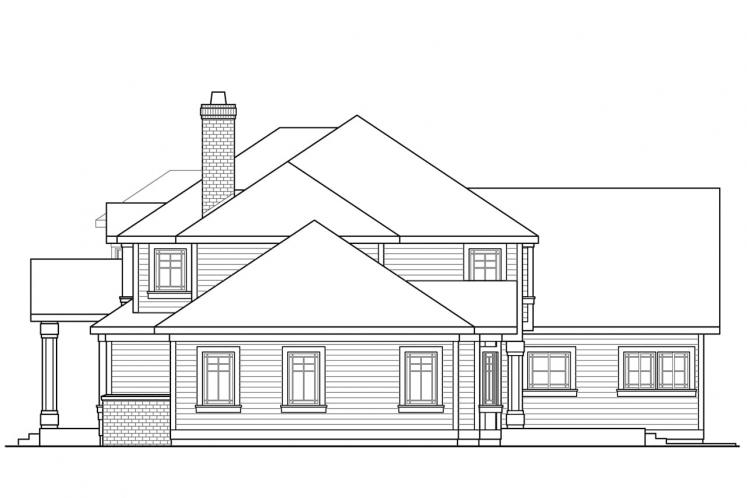Traditional House Plan - Masonville 30137 - Right Exterior