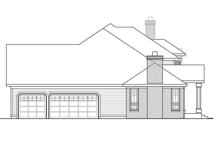 Colonial House Plan - Masonville 30137 - Left Exterior