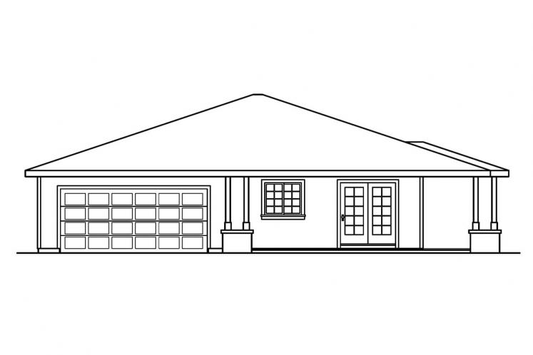 Prairie House Plan - Tealwood 30243 - Left Exterior