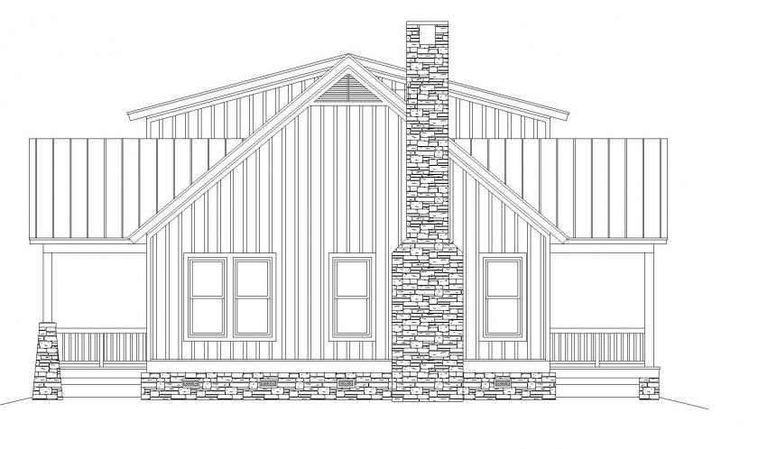 Cottage House Plan -  30276 - Right Exterior